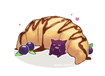 Gengar and a Croissant by spaded-square