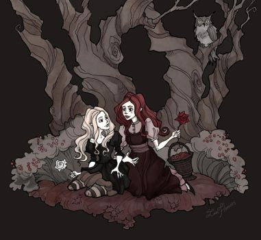 Snow White and Rose Red by IrenHorrors