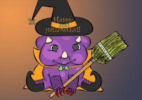 Witch Triceratops colored by crochetamommy