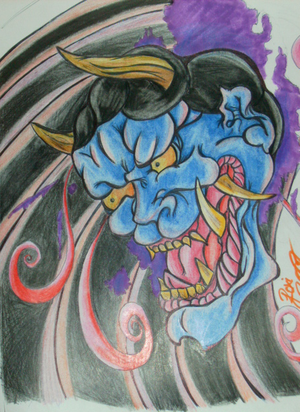 Hannya mask 6 hours all togther or