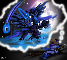 MLP. Battle Armor Pirate Princess Luna by jamescorck