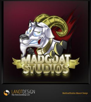 Mad Goat Studios Mascot Design by LanotDesign