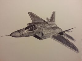 F-22 Raptor Fighter by OMKDrawings