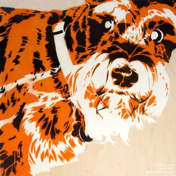Rudy: spraypainted schnauzer by blayrd