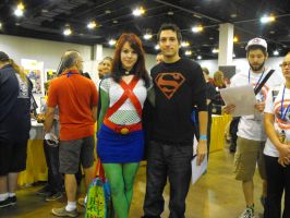Miss Martian and Superboy by Etrigan423