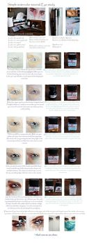 Simple watercolor tutorial: Eye study by jane-beata