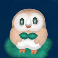 Rowlet Digital Painting by TheShadowRam