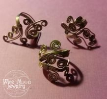 Swirly Rings by WireMoonJewelry