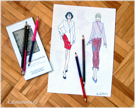 The selection of sketches for the new collection10 by AnnaZLove