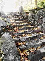 Autumns Stairway by MorbidlyFasinated