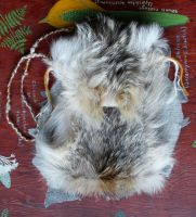 Large Coyote Fur Foldover Bag by lupagreenwolf