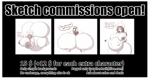 Sketch commissions open! by 666zarike