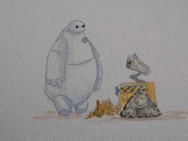 Baymax Walle by dieingcity