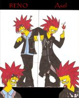 Axel and Reno- Simpsonized by animedragoon3