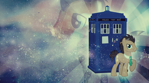 Wallpaper: Doctor Whooves by MadBlackie