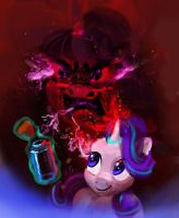 Starlight Glimmer controls her anger with bottle by xbi