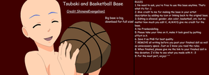 Tsubaki with Basketball by ShinanaEvangelian1