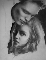 Bella and Edward WIP by KateTortland