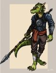 Argonian Lancer by TheLivingShadow