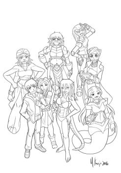 His 7 Valkyries - Cast by IkeQuasar