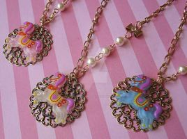 Candy Carousel Necklaces by FatallyFeminine