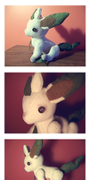 Jointed Leafeon Doll by nettlebeast