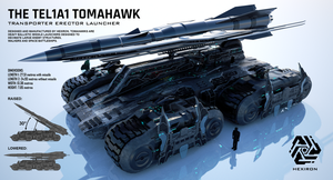 TEL1A1 Tomahawk Transporter Erector Launcher by Duskie-06