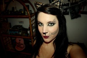 Halloween make up cat by LikeTheOthers