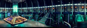 TARDIS interior  dual screen wallpaper [3840x1080] by SteampunkTinkergirl