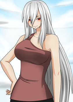 . : Sakura Shiro in casual clothing : . by InahoSabremere