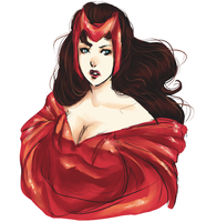 Scarlet Witch by rivertem