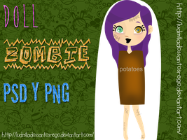 Doll Zombie PSD y PNG by ludmiladossantosrego