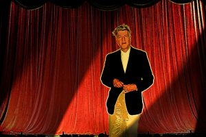 David Lynch, contemplating red curtains by PaulBaack
