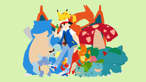 Ash Ketchum and Starter Gang | Minimalist by matsumayu