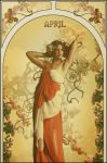 tribute to mucha II-april by greenfeed