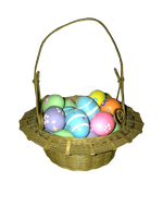 Easter basket with eggs png by Irisustockimages