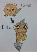 Fakemon: Turnell, Drillmix by Brawl483