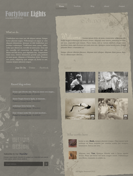 fortyfour Lights - Web Layout by Bellie