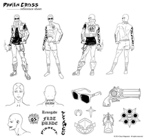Skyzm character REF sheets - Damien Cross by DavyWagnarok