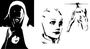 Mass Effect Stencil Cutouts by Mojo-vL