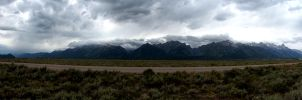 Grand Tetons Pano by leocolgan
