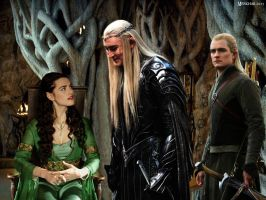 Love triangle 3: Thranduil, Legolas and Adlanniel by Menkhar