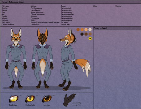 Cadet Wolf Reference Sheet by Altarior