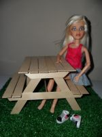 Picnic Table Scale 1:6 by kayanah