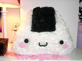 Fluffy Rice Onigiri Pillow by LiLMoon