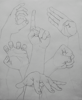 Hand Study by The-BenT-One