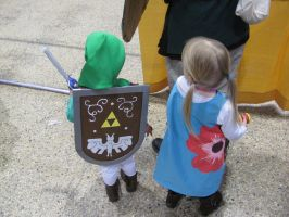 Wind Waker Link and Aryll (back) by Sabathamk
