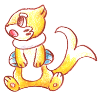 Shiny Buizel. by Ishisu
