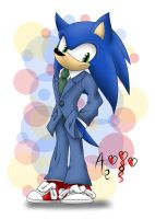 Sonic as Shinichi Kudo - colored by AR-ameth