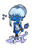 Chibi Ice and Water by ryuunootome